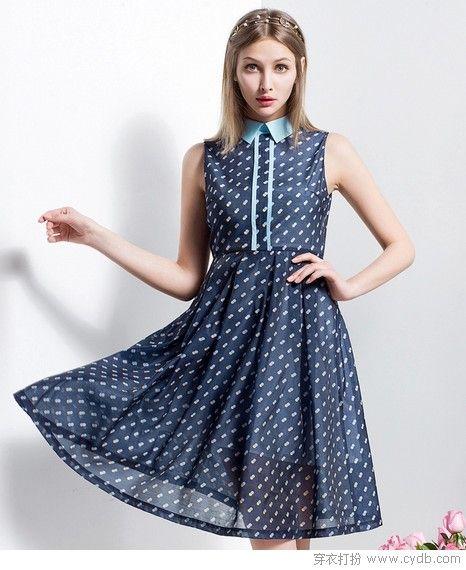 印花衬衫裙,从清新到炫丽