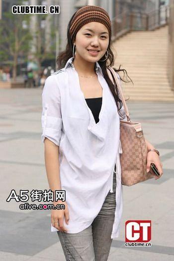 北京街拍美女 最新时尚潮人街头混搭秀